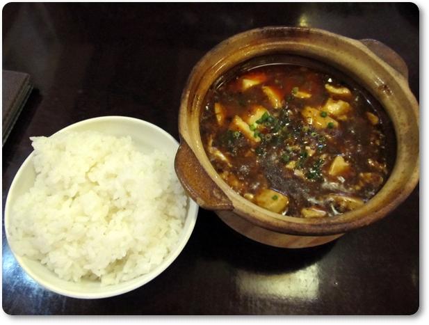 名物の麻婆豆腐とご飯